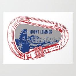 Mount Lemmon Climbing Carabiner Art Print
