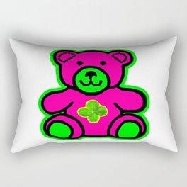 My Lucky Teddy jGibney The MUSEUM Magenta Society6 Gifts Rectangular Pillow