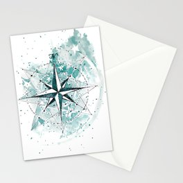 Compass Sketch Stationery Cards