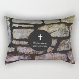 Christ Alone; Cornerstone Rectangular Pillow