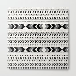 Tribal Arrow Boho Pattern #2 #aztec #decor #art #society6 Metal Print