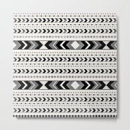 Tribal Arrow Boho Pattern #2 #aztec #decor #art #society6 Metal Print
