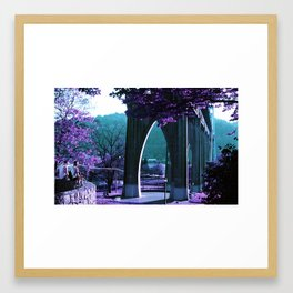 Cathedral Bridge in Purple Framed Art Print