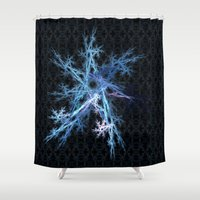 snowflake Shower Curtains featuring Snowflake by MG-Studio
