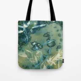 Bamboo Bubbles Cyanotype Tote Bag