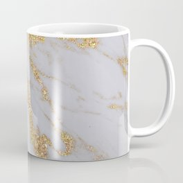 Pink + Gold Glitter Marble Coffee Mug
