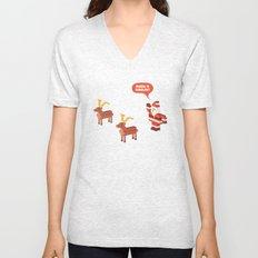 Where is Rudolph? Unisex V-Neck
