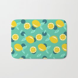 Lemon dots #society6 #decor #buyart Bath Mat