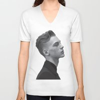 boys V-neck T-shirts featuring Boys by Grace Teaney Art