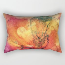 A leaf In The Wood Aflame Abstract Rectangular Pillow
