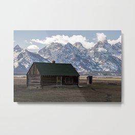 Mormon Row Cabin Metal Print