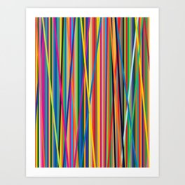 STRIPES STRIPES STRIPES Art Print