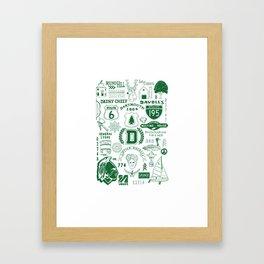 Dartmouth Massachusetts Print Framed Art Print