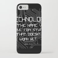 technology iPhone & iPod Cases featuring Technology by Hollie B