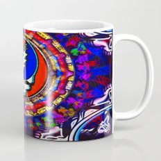 Grateful Dead 'Steal Your Face' Colorful Mandala Psychedelic Skeleton Tapestry Mug