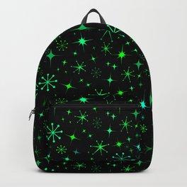 Atomic Starry Night in Neon Green Glow + Black Backpack