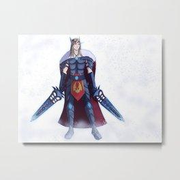 Camus Blood Elf Death Knight - No Background Metal Print