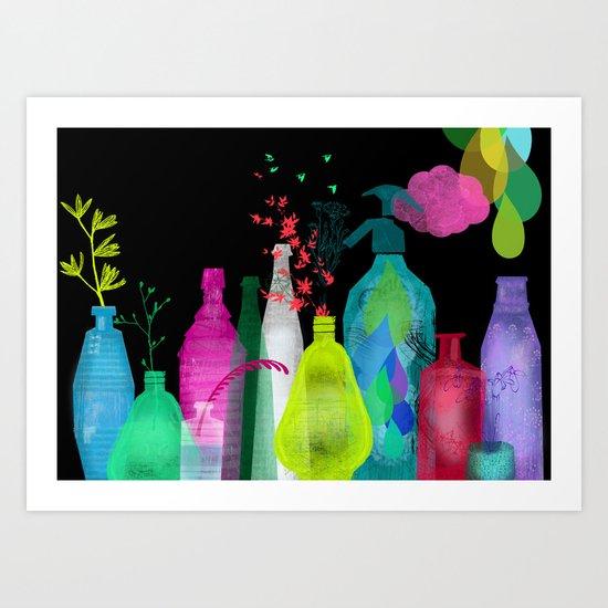 enchanted bottles Art Print