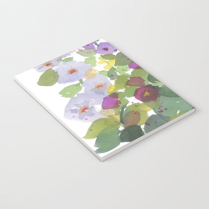 Purple Hollyhock Garden Notebook