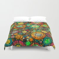 andreas preis Duvet Covers featuring Ring Pattern 3 by Klara Acel