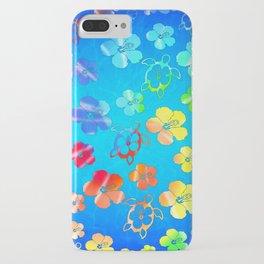 Tie Dye Honu And Hibiscus iPhone Case