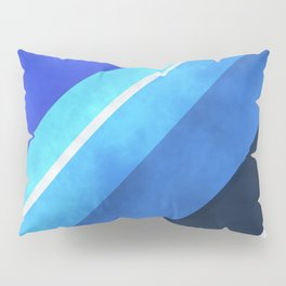 Parallel Blues Pillow Sham