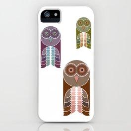 Owl With Kaleidoscope Eyes iPhone Case