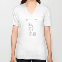 nasa V-neck T-shirts featuring NASA Space Suit Patent  by Elegant Chaos Gallery