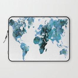 Design 121 Blue World Map Laptop Sleeve