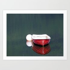 Little Red Boat Art Print