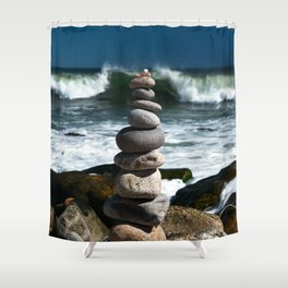 Parting the Waves Shower Curtain