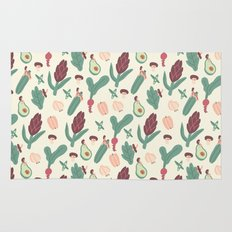 Girls love vegetables Rug