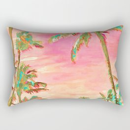 Beach at Mauna Lani Bay, Hawaii Peach Rectangular Pillow