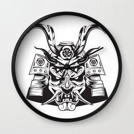 Samurai Mask Wall Clock