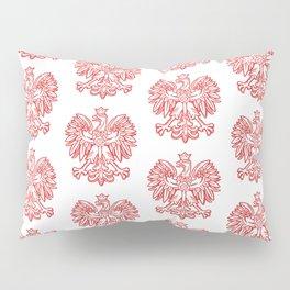 Polish Eagle Pattern Pillow Sham