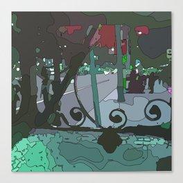 Barcelona stree Canvas Print