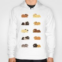 pigs Hoodies featuring Guinea pigs by stephasocks