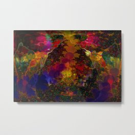 Stereo Trippin' Psychedelic Fractal Metal Print