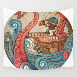 Simbad: Monsters of deep sea. Wall Tapestry