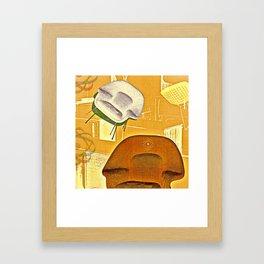 Home maker furniture retro illustration Framed Art Print
