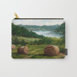Hay Bale View of Shelburne Pond Carry-All Pouch