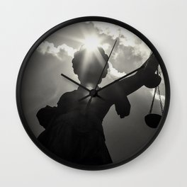 Justitia  Wall Clock