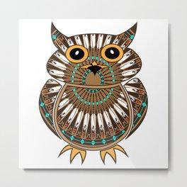 Owl the Messenger Metal Print