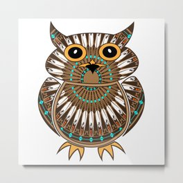Owl the Messenger Metal Print