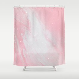 Intermix - White & Pink Shower Curtain