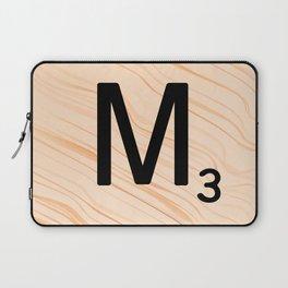 Scrabble Letter M - Large Scrabble Tiles Laptop Sleeve