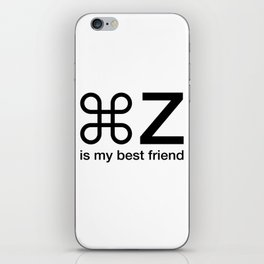 Command Z Funny Graphic Designer Unisex Shirt My Best Friend iPhone Skin
