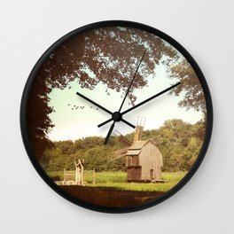 Back in time, milling grains Wall Clock