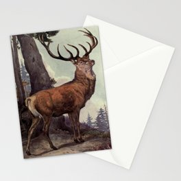 Vintage Red Deer Painting (1909) Stationery Cards