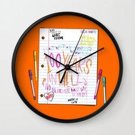 Leslie's Notes (PAR104) Wall Clock